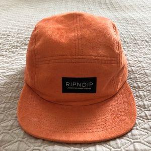 Rip n Dip Orange Suede 5-Panel Hat